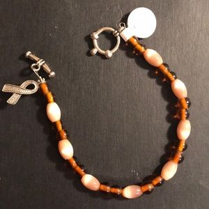 Jewelry - Handcrafted brown awareness bracelet
